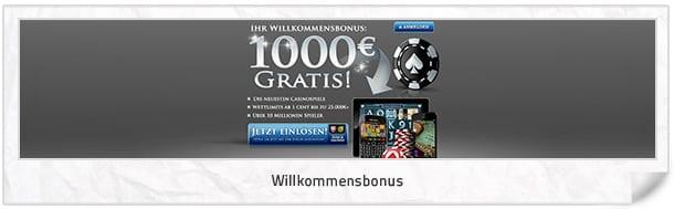 Luxury Casino Bonus: Bis zu 1.000 Euro Neukundenbonus