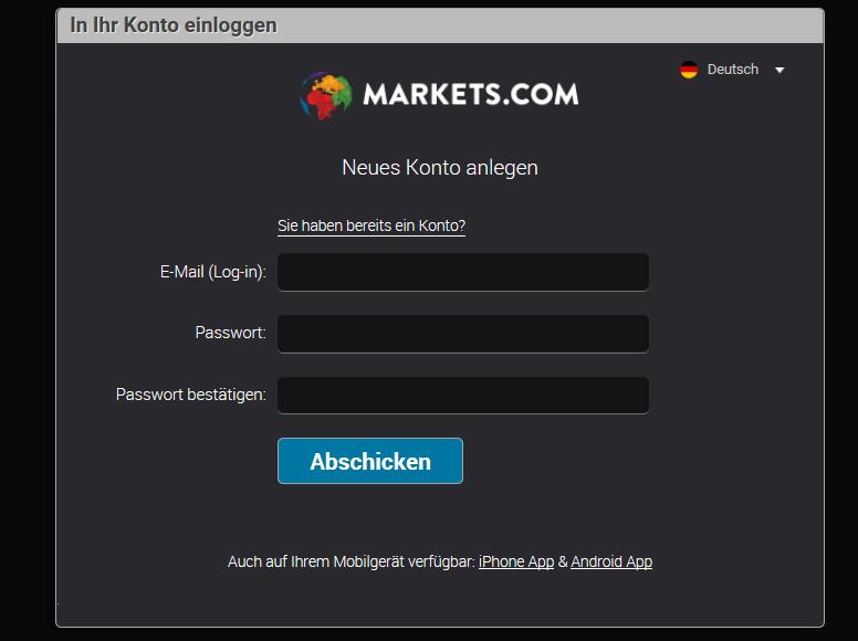 Plattform anmelden – App herunterladen