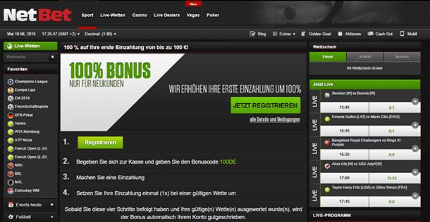 NetBet Bonuscode ohne Einzahlung