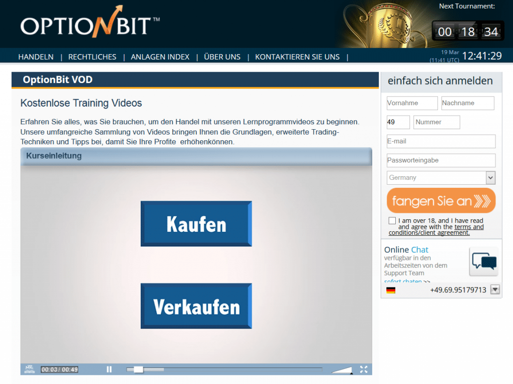 Zum Bildungsangebot von OptionBit gehören auch informative Videokurse