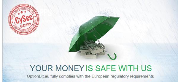OptionBit-Website – Ihr Geld ist sicher bei uns