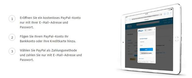 PayPal für eine schnelle Einzahlung nutzen