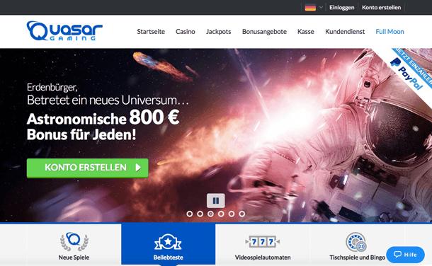 Quasar Gaming Auszahlung