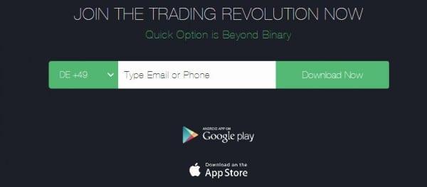 Der Download der Handelsplattform