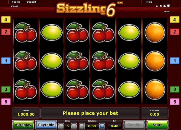"Sizzling Hot mit PayPal spielen: Frucht-Symbole ""Lucky Seven"""