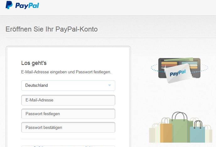 Einfach und umsonst: Kontoeröffnung bei PayPal