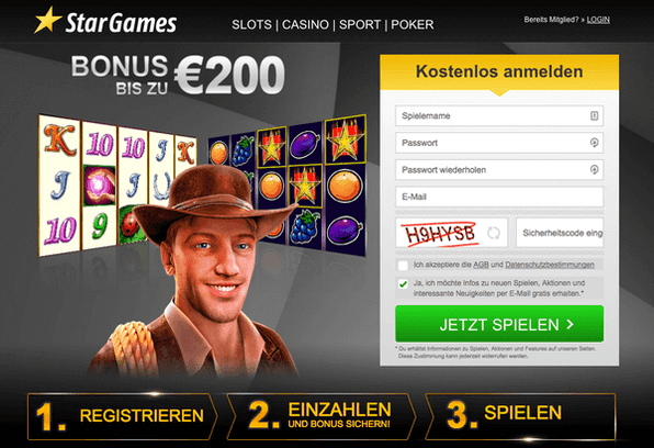 Stargames Bonus Code