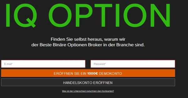 iq option demokonto test