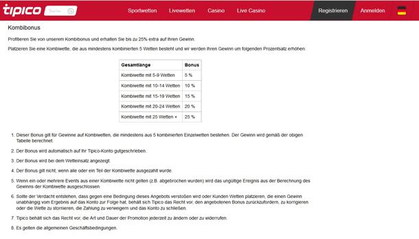 Screenshot Tipico Gutschein Bedingungen