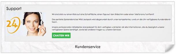 WildJackpotCasino_Kundenservice