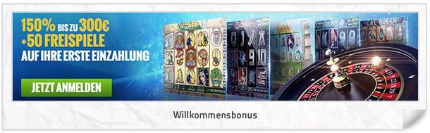 Wiliam Hill Casino Club Bonus: 300 Euro und 50 Freispiele für Einsteiger