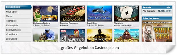 WilliamHill_Casino_Spieleangebot