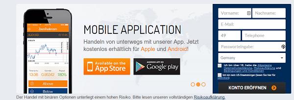 Mobile Trading App ZoomTrader