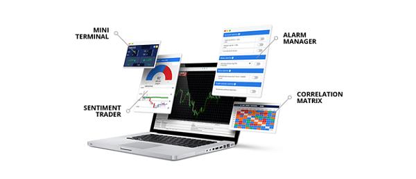 Bei Admiral Markets kann der MetaTrader 4 durch viele kostenlose Features erweitert werden