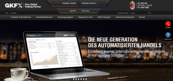 Automatisierte Handelsstrategien mit TradeWorks bei GKFX