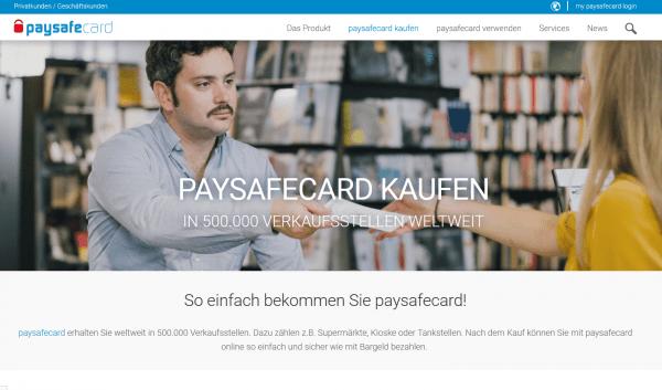 Informationen über die Verkaufsstellen der Paysafecard