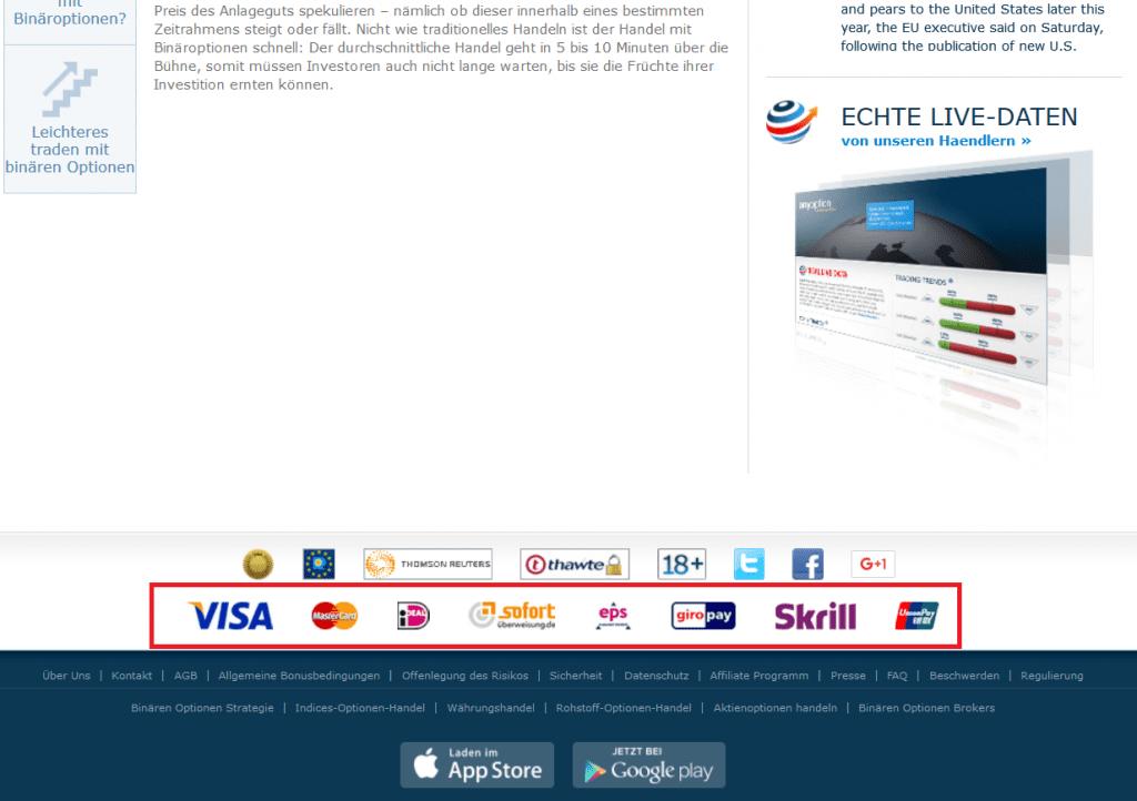 Binäre Optionen Konto von 300 Rubel