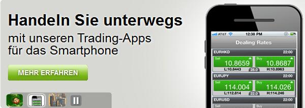 Mobile-Trading mit der AvaTrade App