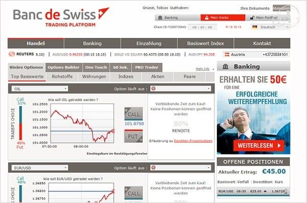 Banc de Swiss Handelsplattform