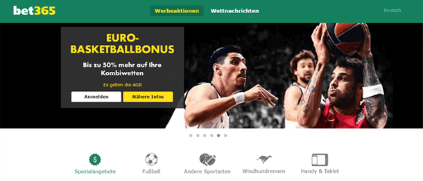bet365 Basketballbonus