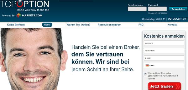 TopOption: Tochter-Portal von markets.com