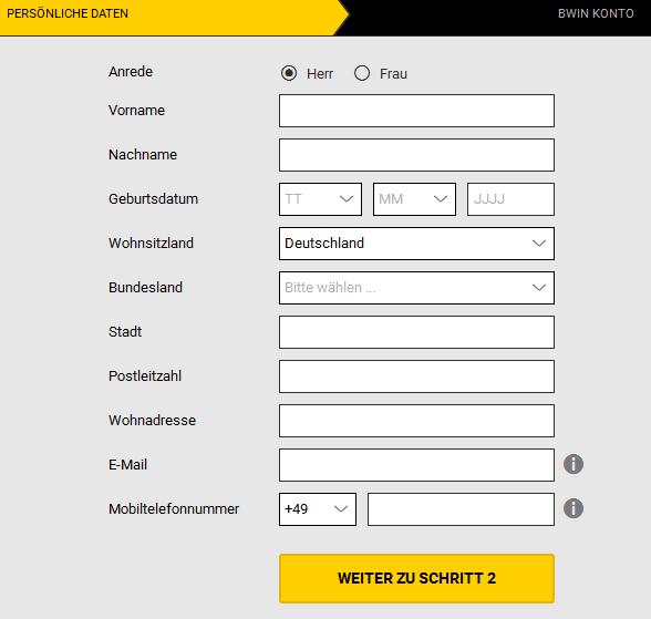 Bwin Registrieren