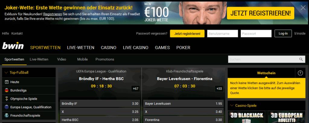 bwin Casino Bonus 100 Euro kostenlos