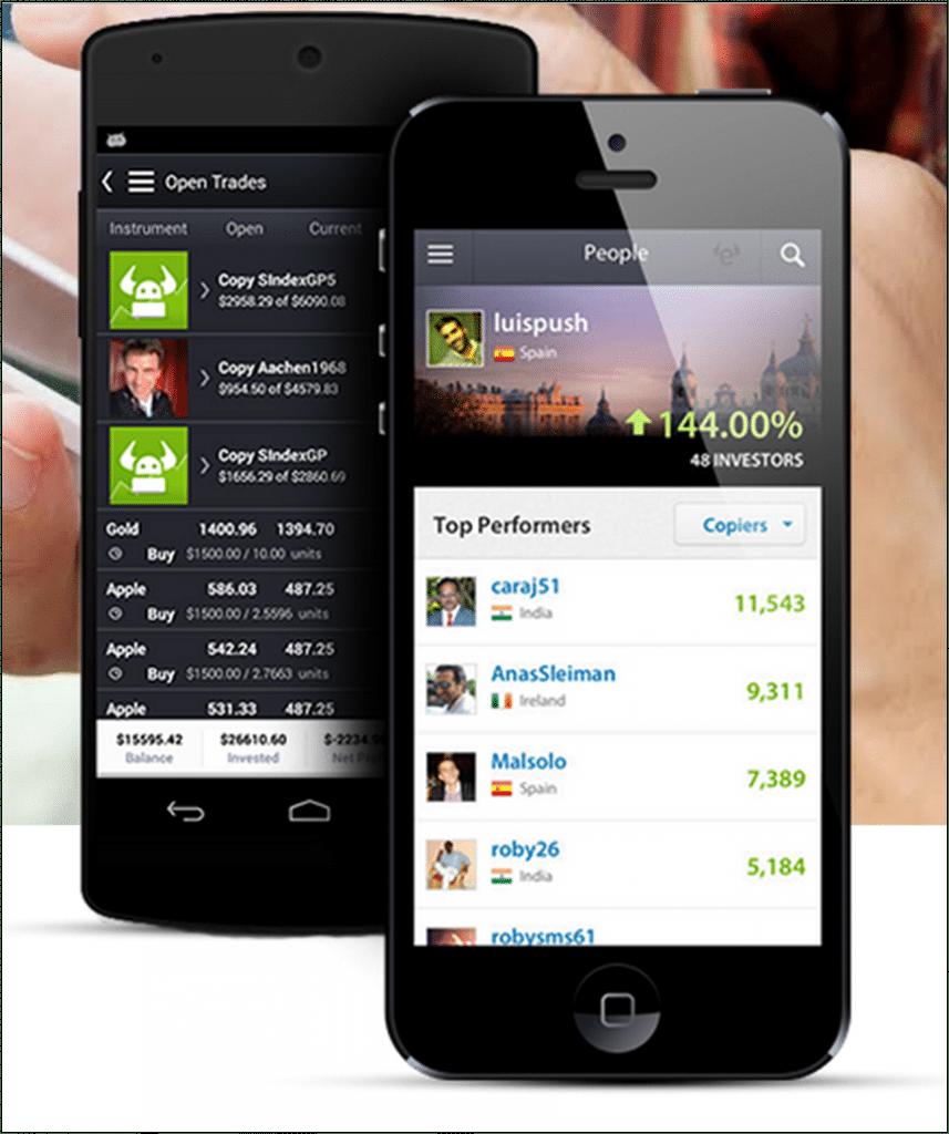 Die Mobile Trading App von eToro