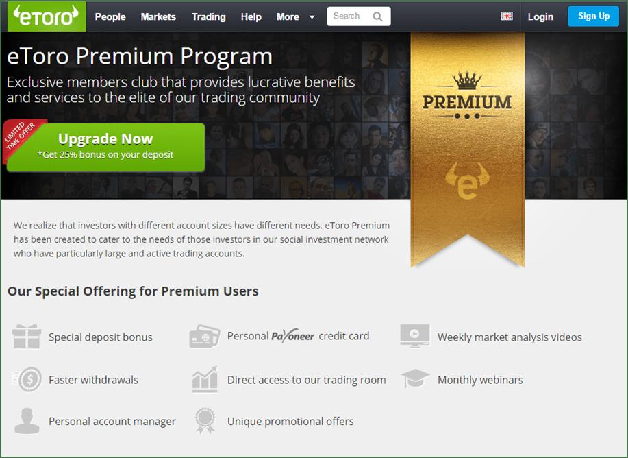 Das eToro Premium Program