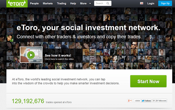 eToro - das social investment network