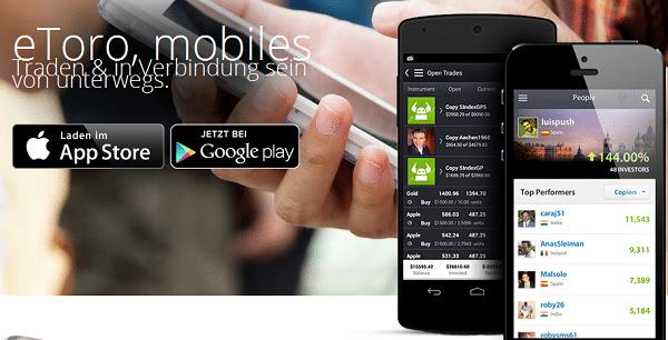 eToro ermöglicht mobilen Handel