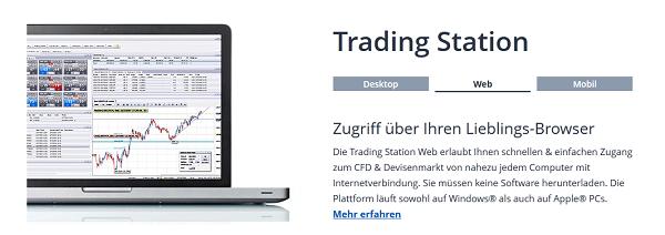 """Die hauseigene FXCM Handelsplattform trägt die Bezeichnung """"Trading Station"""""""