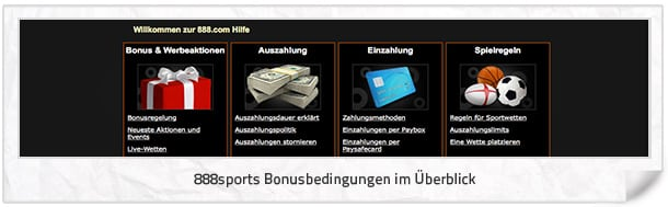 888sport Bonus Bedingungen