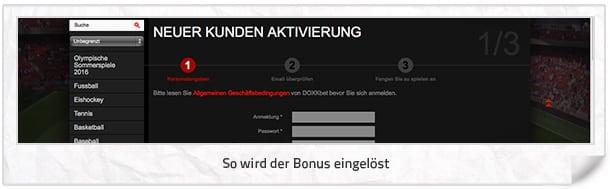 doxxbet Bonus einlösen