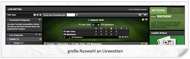 Ironbet Livewetten Center