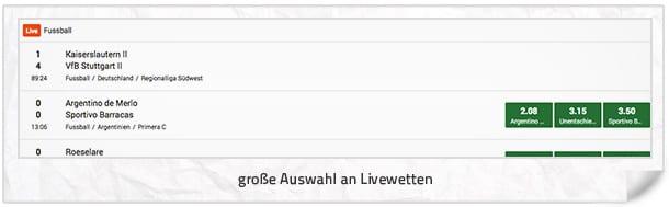 Mr Green Livewetten Sport