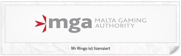 Mr. Ringo Lizenz bei MGA