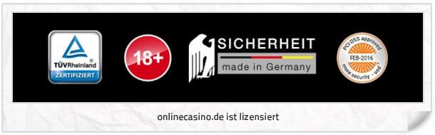 onlinecasino.de Lizenz