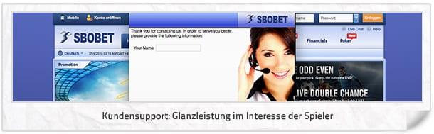 SBOBET Kundenkontakt und Hilfe
