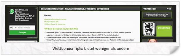 Tiplix Bonus Angebot