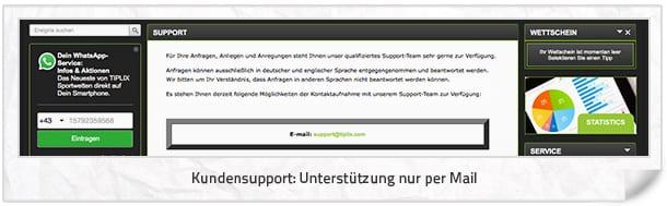 Tiplix Service und Kontakt