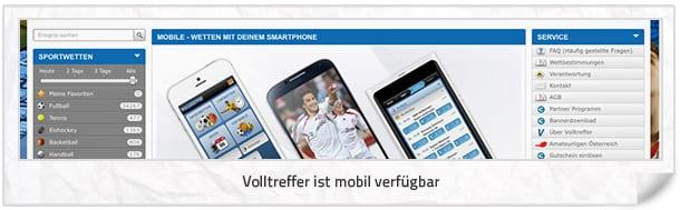 Das komplett Angebot ist auch mobil verfügbar