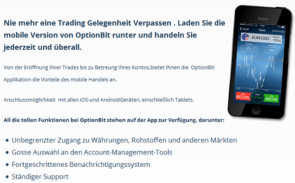 Mobile-Trading mit der OptionBit App