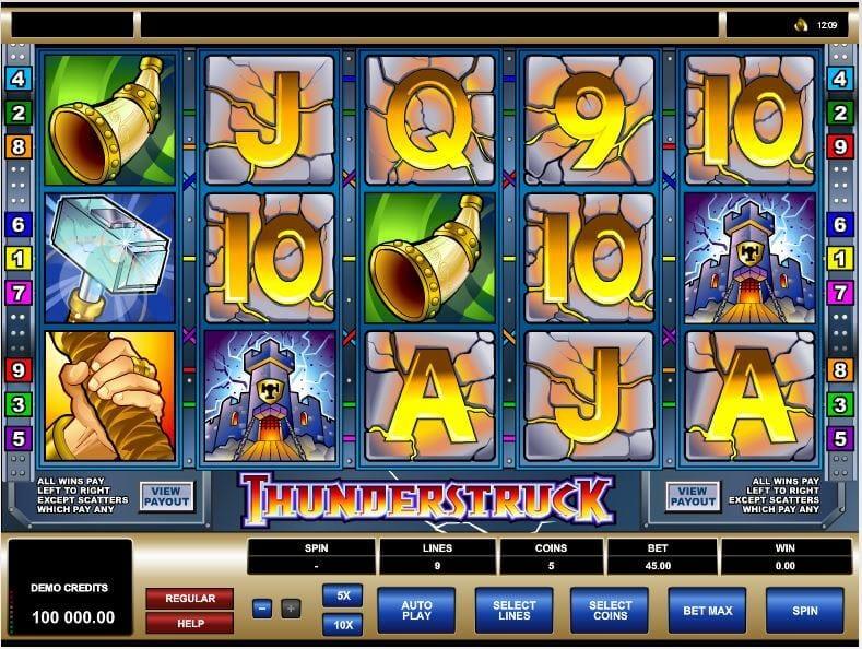 Thunderstruck online mit Echtgeld spielen